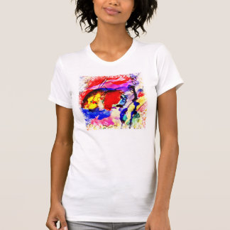 Kids Abstract Art Rainbow Fish in Colorful Sea T Shirt