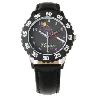 Kid's Adjustable Bezel Stainless Tennis purple Watch