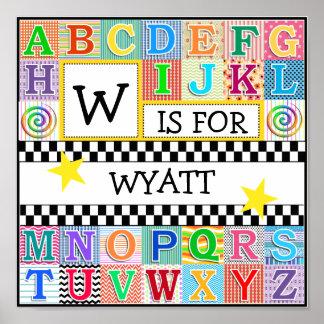 Kids Alphabet Art 11x11 Personalized Posters