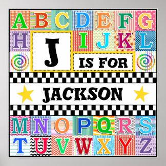 Kids Alphabet Art 16x16 Personalized Posters