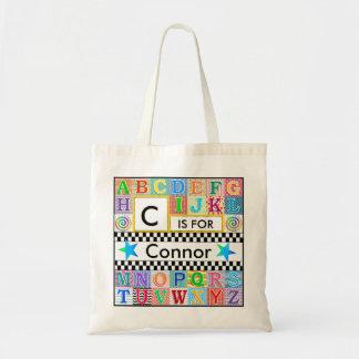 Kids Alphabet Art Blue Star Budget Tote Bag