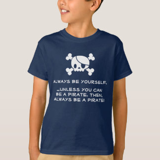 "Kid's ""Always Be a Pirate"" T-shirt (Navy)"