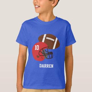 Kids American Football and Red Helmet Tshirt
