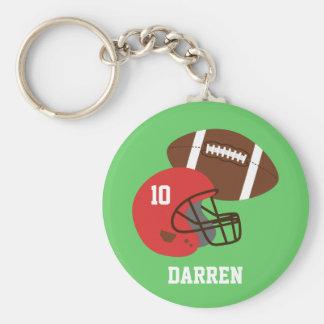 Kids American Football Helmet Name Key Chain