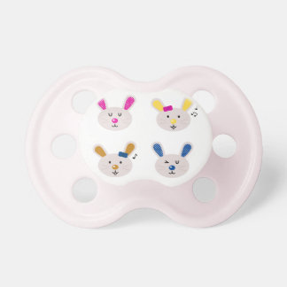 Kids and baby Pacifier with Bunnies