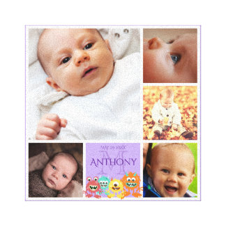 kids and baby photo collage canvas print