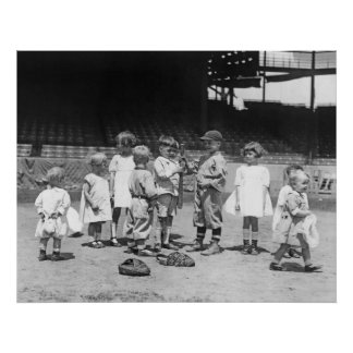 Kids and Baseball, early 1900s Poster