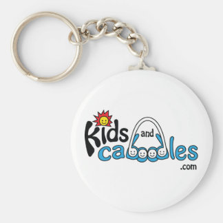 Kids and Caboodles .com Basic Round Button Key Ring