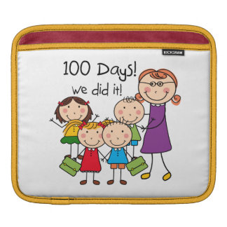 Kids and Female Teacher 100 Days Sleeve For iPads