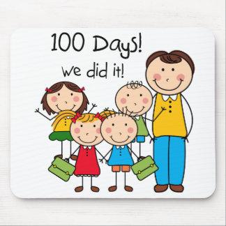 Kids and Male Teacher 100 Days Mousepad