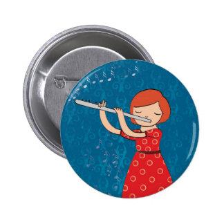 Kids and music 6 cm round badge