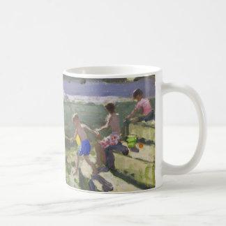 Kids and seagulls Looe 2013 Coffee Mug