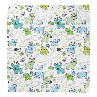 kids animal background pattern bandana
