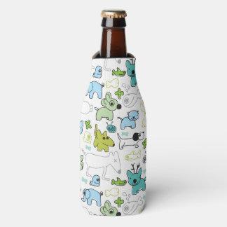kids animal background pattern bottle cooler