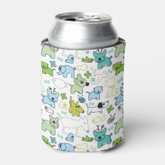 kids animal background pattern can cooler