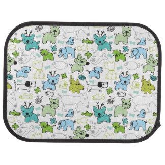 kids animal background pattern car mat
