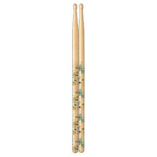 kids animal background pattern drum sticks