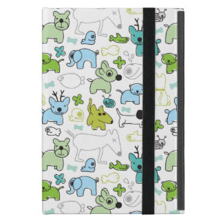 kids animal background pattern cover for iPad mini