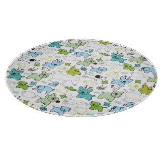 kids animal background pattern cutting board