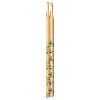 kids animal background pattern drumsticks