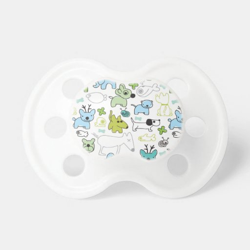 kids animal background pattern baby pacifiers