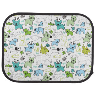 kids animal background pattern floor mat