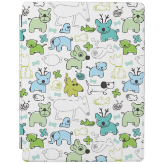 kids animal background pattern iPad cover