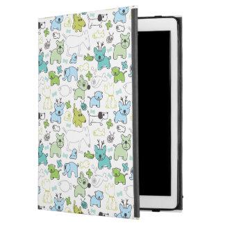 "kids animal background pattern iPad pro 12.9"" case"