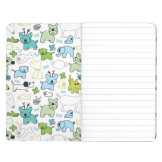 kids animal background pattern journal