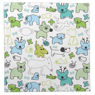 kids animal background pattern napkin