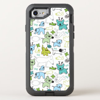 kids animal background pattern OtterBox defender iPhone 8/7 case