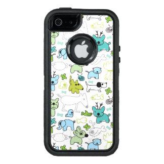kids animal background pattern OtterBox defender iPhone case