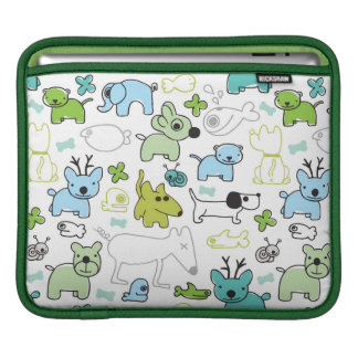 kids animal background pattern sleeve for iPads