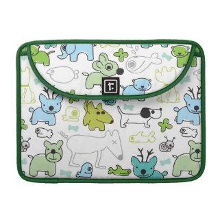 kids animal background pattern sleeve for MacBook pro