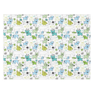kids animal background pattern tablecloth