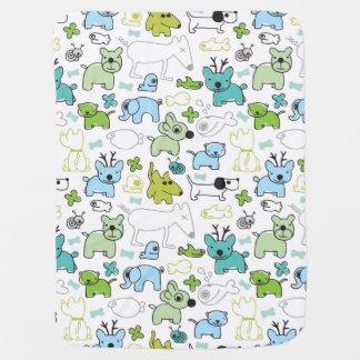 kids animal background pattern stroller blankets