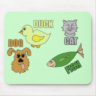 Kids Animal T Shirts and Gifts Mouse Pad