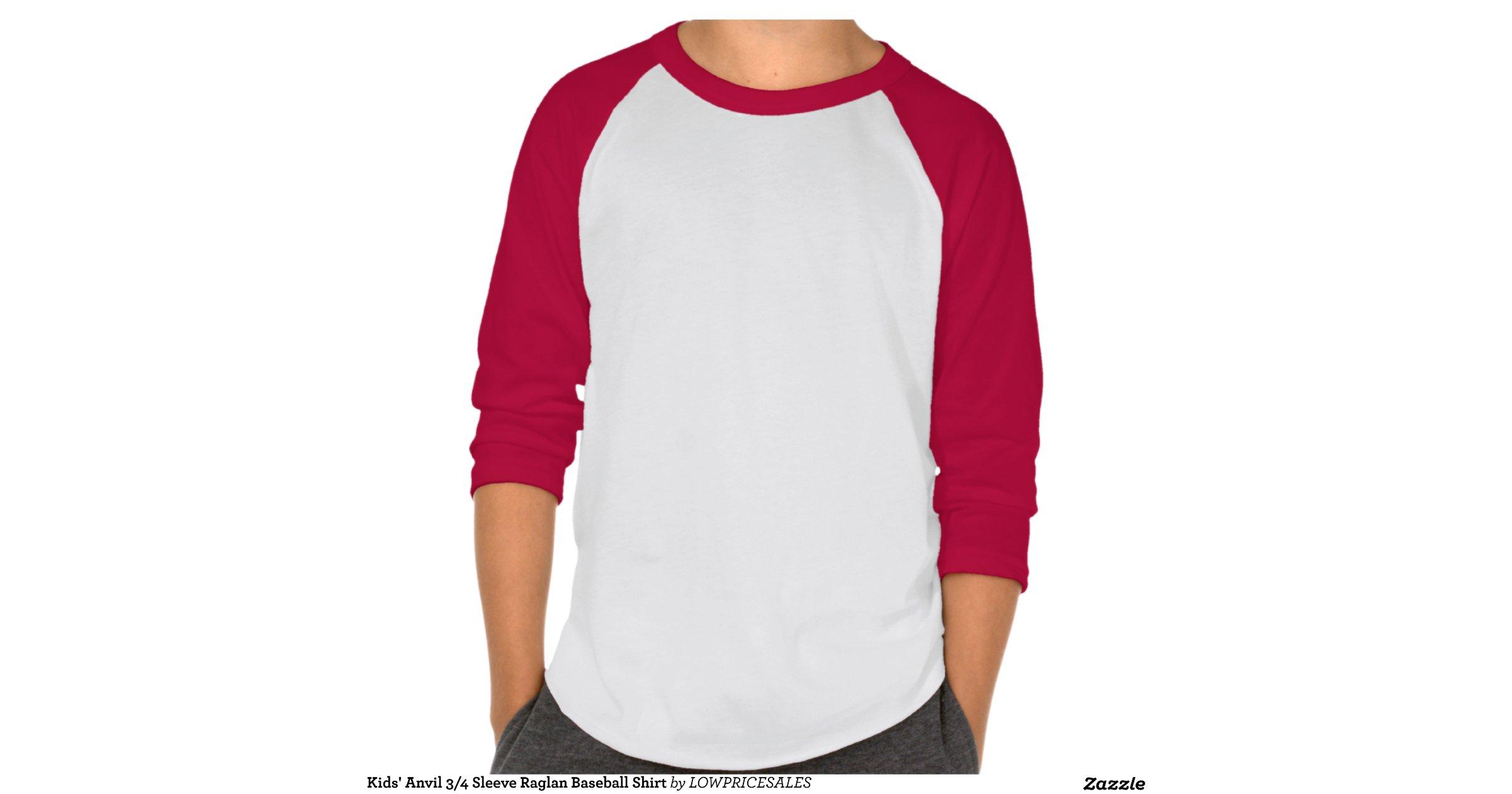 Kids 39 Anvil 3 4 Sleeve Raglan Baseball Shirt Zazzle