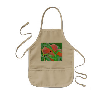 Kid's Apron - Peaches In Cartoon