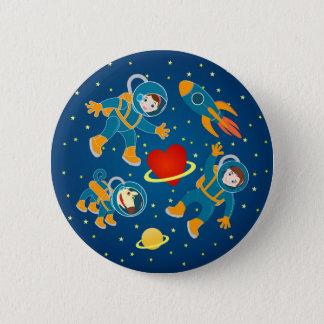 Kids Astronauts love space travel 6 Cm Round Badge