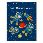 Kids Astronauts love space travel Big Greeting Card