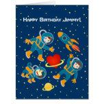 Kids Astronauts love space travel Big Greeting Card