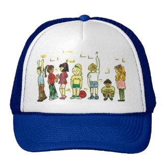 Kids at play trucker hats