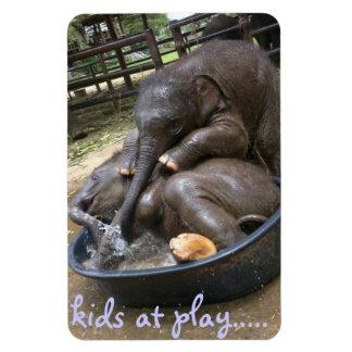kids at play rectangular photo magnet