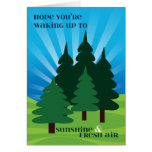 Kids at Summer Camp Sunshine and Fresh Air Trees Greeting Card