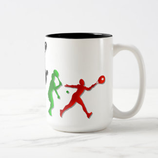 Kids Athletic Tennis players Tees and tennis Two-Tone Mug