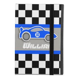 kids auto blue sports car named ipad case