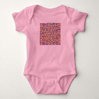Kids baby body : with design blocks baby bodysuit