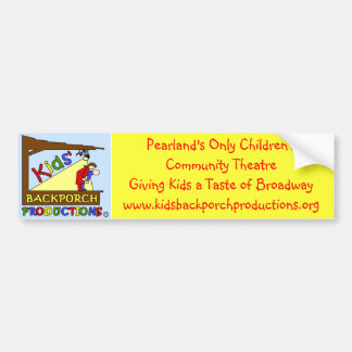 Kids Backporch Productions Bumper Sticker