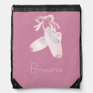 Kids Ballet (custom name) Drawstring Backpacks